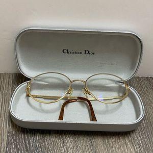 VTG Christian Dior Gold Prescription Glasses EUC